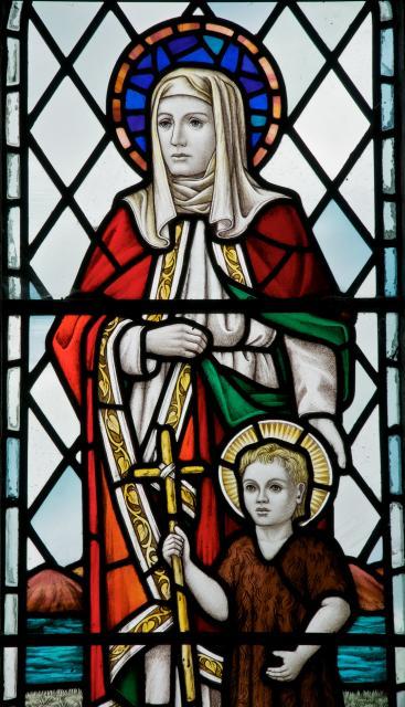 St Elizabeth and St John the Baptist    detail from    Virgin and Child, St Elizabeth and St John the Baptist