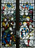 The Adoration of the Shepherds: Adoration of the Shepherds with St David and St Nicholas