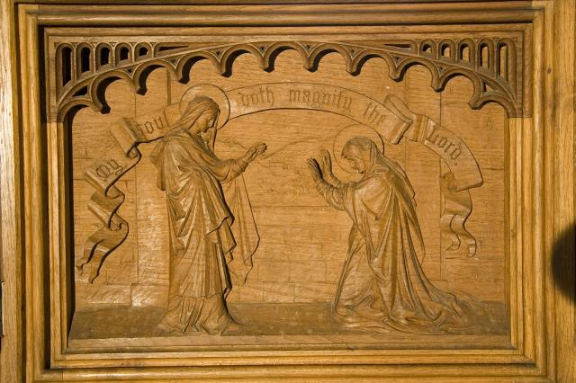 The Visitation    detail from    The Virgin and Child with Annunciation, Visitation, Baptism of Christ and Resurrection