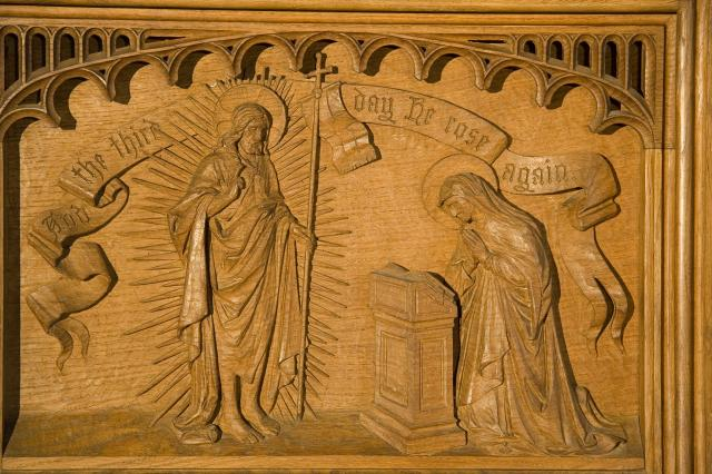 The Risen Christ appears to His Mother    from    The Virgin and Child with Annunciation, Visitation, Baptism of Christ and Resurrection