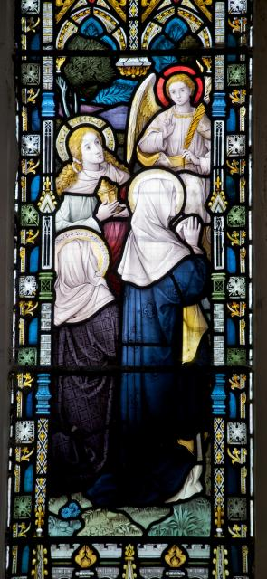 The Three Marys Visit the Empty Tomb    detail from    The Resurrection