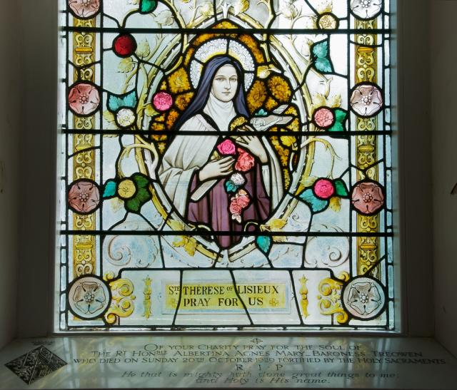 St Therese of Lisieux    detail from    The Risen Christ and St Therese of Lisieux