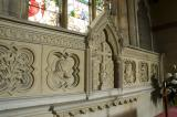 Reredos with Profile Heads