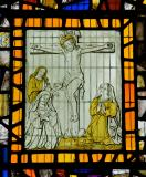 The Crucifixion with the Virgin Mary, St John and Mary Magdalene: Glass Fragments