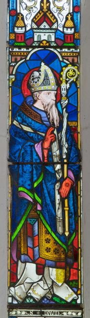 St David    detail from    Christ with St David and St Tydecho