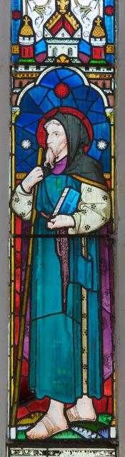 St Tydecho    detail from    Christ with St David and St Tydecho