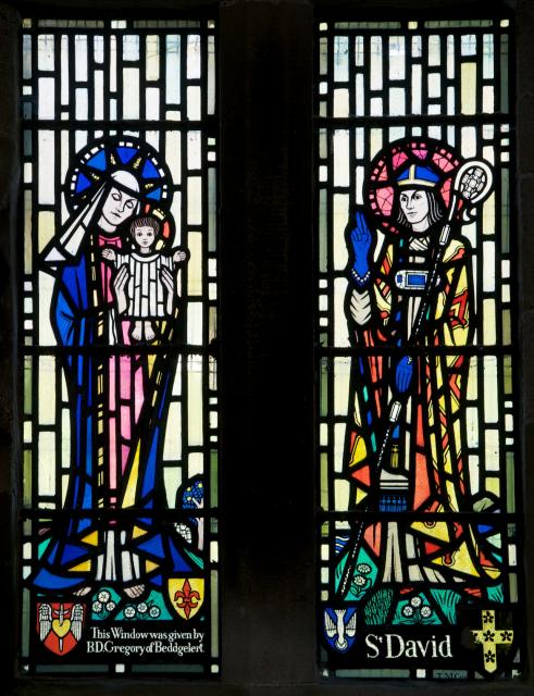 Virgin and Child with St David