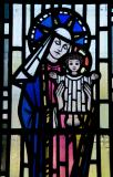Virgin and Child: Virgin and Child with St David