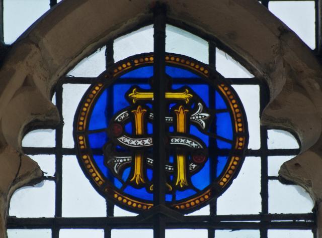 IHS Monogram    detail from    Christian Symbols