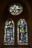 St Agnes and St George: The Four Evangelists with Saints and Angels