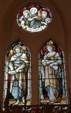 St Luke the Evangelist and St John the Evangelist: The Four Evangelists with Saints and Angels