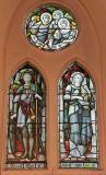 St Maurice and St Cecilia: The Four Evangelists with Saints and Angels
