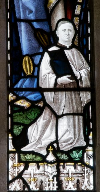 Revd Warkin Davies    detail from    The Crucifixion with the Virgin Mary, St John and Donors