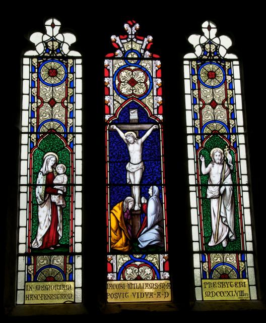 The Crucifixion with the Virgin and Child and the Risen Christ