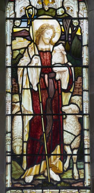 Christ the Good Shepherd    detail from    Christ the Good Shepherd and Christ the Light of the World