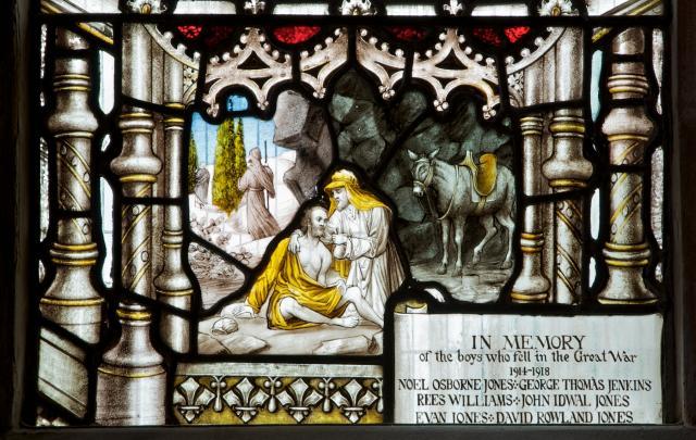 The Good Samaritan    detail from    St Martin and St John the Baptist