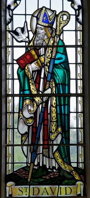 St David    detail from    Christ with St Non and St David
