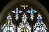 Tracery Lights: Christ with St Non and St David