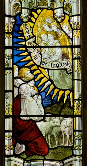 The Annunciation to the Shepherds    detail from    Scenes from the Birth of Christ