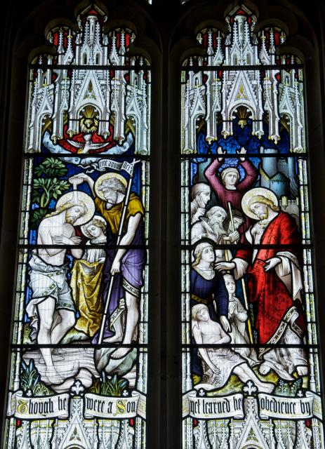 The Baptism of Christ and Christ Healing the Sick    detail from    Scenes from the Life of Christ and St Stephen