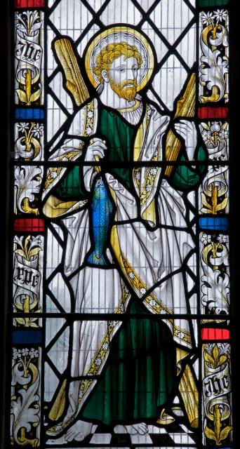 St Andrew    detail from    St Andrew and St David