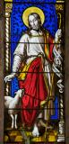 Christ the Good Shepherd: Christ the Good Shepherd with St Peter and St John