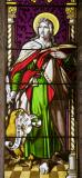 St John the Evangelist: Christ the Good Shepherd with St Peter and St John