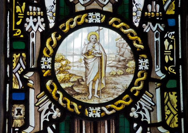 St John the Baptist    detail from    Christ the Good Shepherd with Isaiah and St Paul