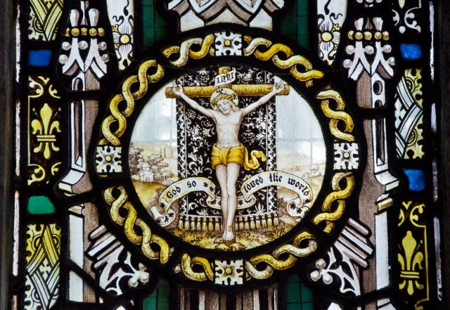 The Crucifixion    detail from    Christ the Good Shepherd with Isaiah and St Paul