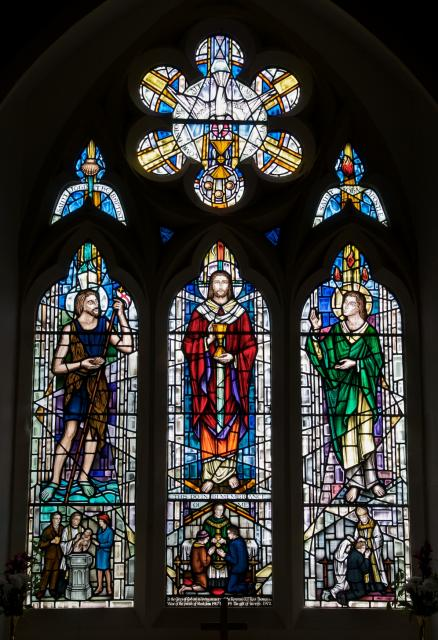 Christ with St John the Baptist and St John the Apostle