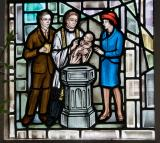 Baptism: Christ with St John the Baptist and St John the Apostle