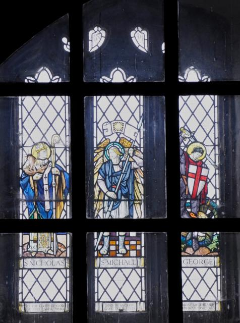 St Michael with St Nicholas and St George