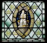 Seal of Usk Priory: Christ with the Virgin Mary and St John