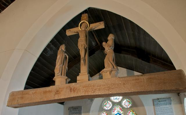 Crucifixion with the Virgin Mary and St John