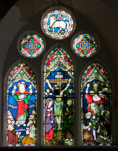 The Crucifixion with the Resurrection and Ascension