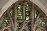 Tracery Lights: The Crucifixion with the Virgin Mary and St John