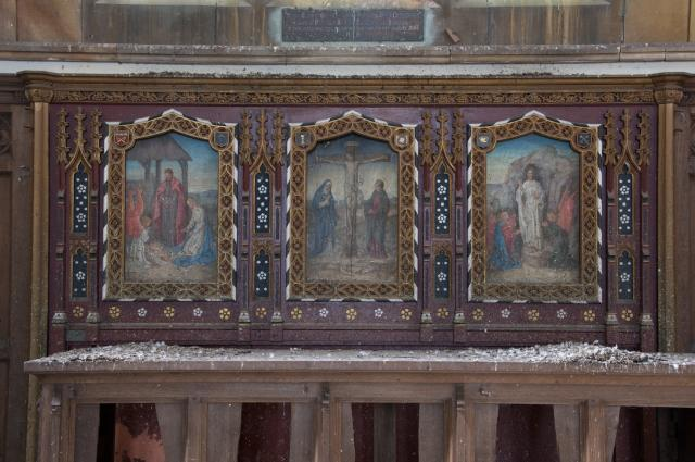 Crucifixion with the Nativity and Resurrection