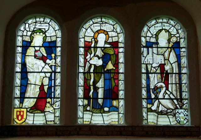 St Luke with St Catherine and St Hugh of Lincoln