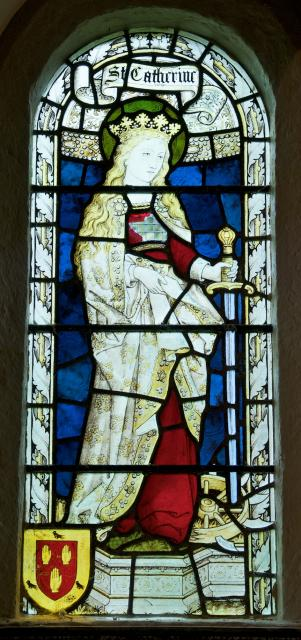 St Catherine    detail from    St Luke with St Catherine and St Hugh of Lincoln