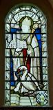 St Hugh of Lincoln: St Luke with St Catherine and St Hugh of Lincoln