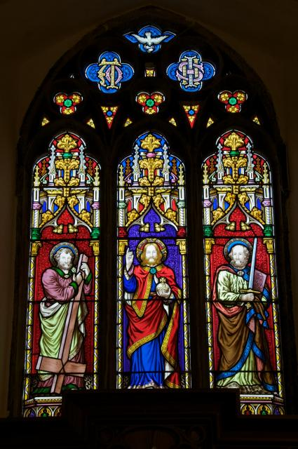 Christ with St Peter and St Paul