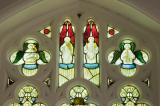 Tracery Lights: The Crucifixion with St Teilo and St David