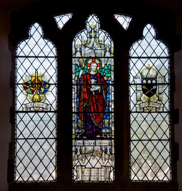 Christ the Good Shepherd with Heraldry