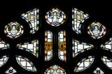 Tracery Lights: Christ the Good Shepherd with the Four Evangelists