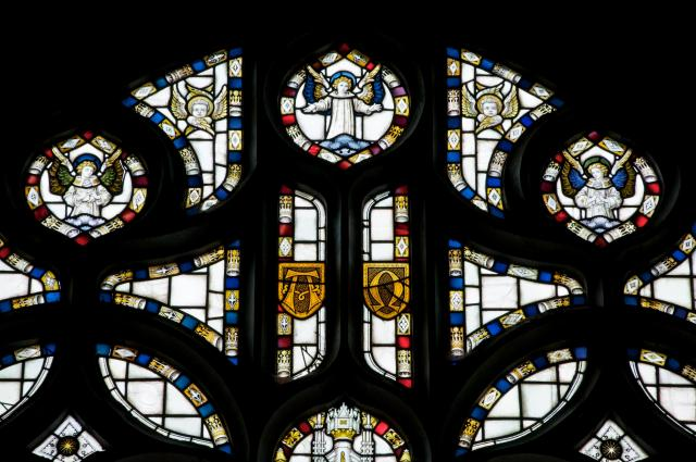 Tracery Lights    detail from    Christ the Good Shepherd with the Four Evangelists