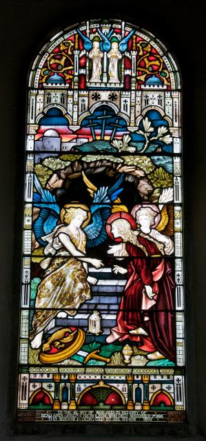 Angels with Mary Magdalene at the Empty Tomb