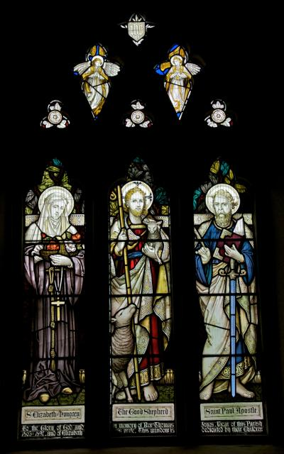 The Good Shepherd with St Paul and St Elizabeth of Hungary