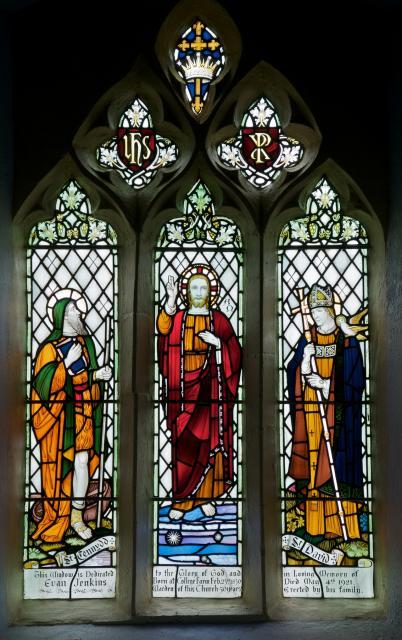 Christ with St Cennydd and St David
