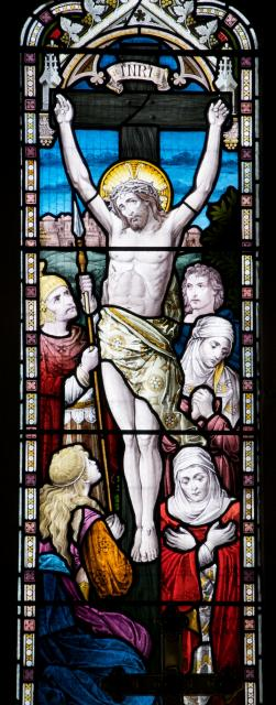 The Crucifixion    detail from    The Crucifixion with Scenes Depicting Mary and Martha