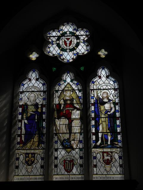 Christ the King with Virgin Mary and St John the Baptist